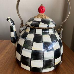 MacKenzie-Childs Courtly enamel tea kettle